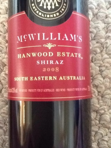Hanwood Estate Shiraz von McWilliams